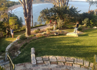 sunset at palm beach bible garden nsw